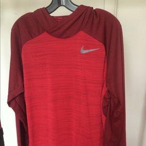 Nike dri fit lightweight workout hoody men's large